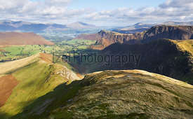 Views of High Snab Bank ridge, Derwent Fells in the Lake District, England, UK.
