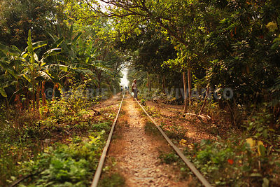 Bamboo train à Battambang - CAMBODGE