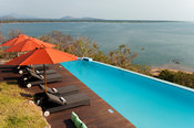 Swimming pool, Pumulani Lodge, Lake Malawi, Cape Maclear, Malawi