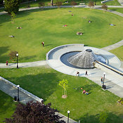 large water fountain at Cal Anderson Park, Capitol Hill Neighborhood, Seattle, WA
