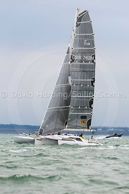 Wardance, GBR762M, Farrier F32 trimaran, Round the Island Race 2017, 201707011163