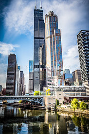 Picture of Chicago Buildings with Willis-Sears Tower