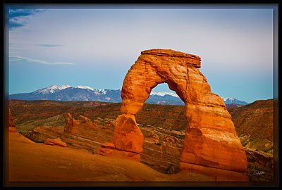 Delicate Arch in Alpenglow