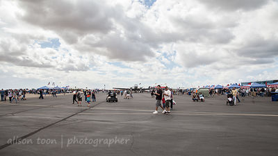 People at the Airshow
