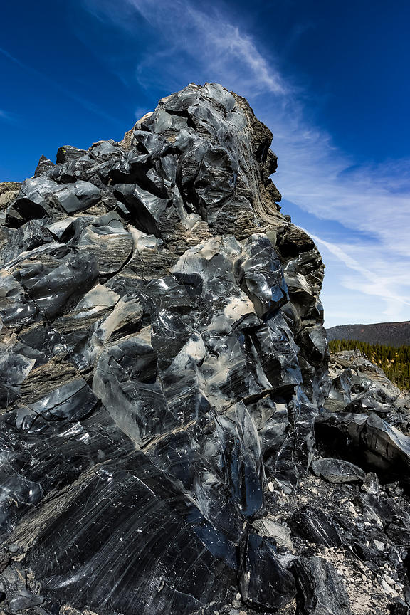 Obsidian in Newberry National Volcanic Monument