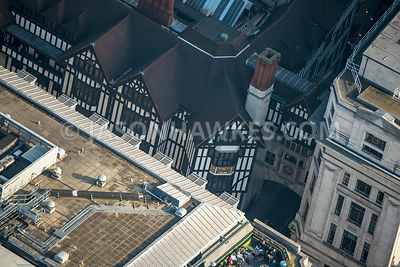 Aerial view of London, Great Marlborough Street with Liberty London.