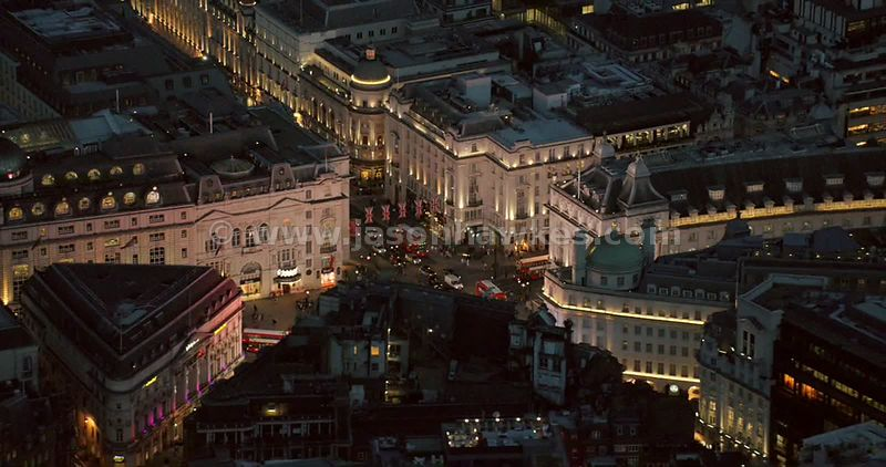 London night aerial footage,
