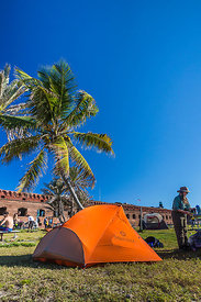Campsite at Fort Jefferson in Dry Tortugas National Park