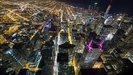 Bird's Eye: Above the Tallest Beacons of Chicago's Abundant Skyline at Night