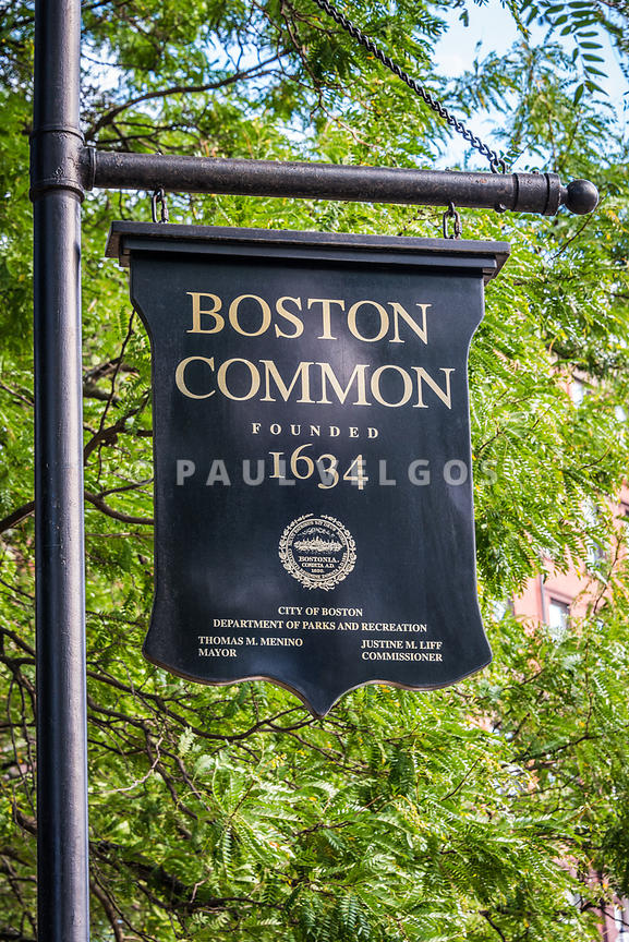 Boston Common Sign Photo