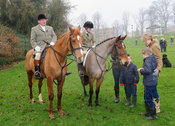 Michael Stokes and Ned Forryan - The Cottesmore Hunt's Boxing Day meet 2013.