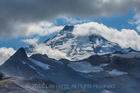 Unsettled Weather over Mt. Baker and Coleman Pinnacle, Viewed from Ptarmigan Ridge Trail