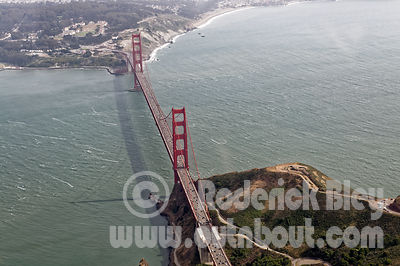 Aerial View of the Golden Gate Bridge from the north