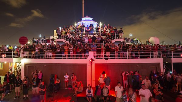 Wide Shot: Fourth of July Celebration On The Queen Mary