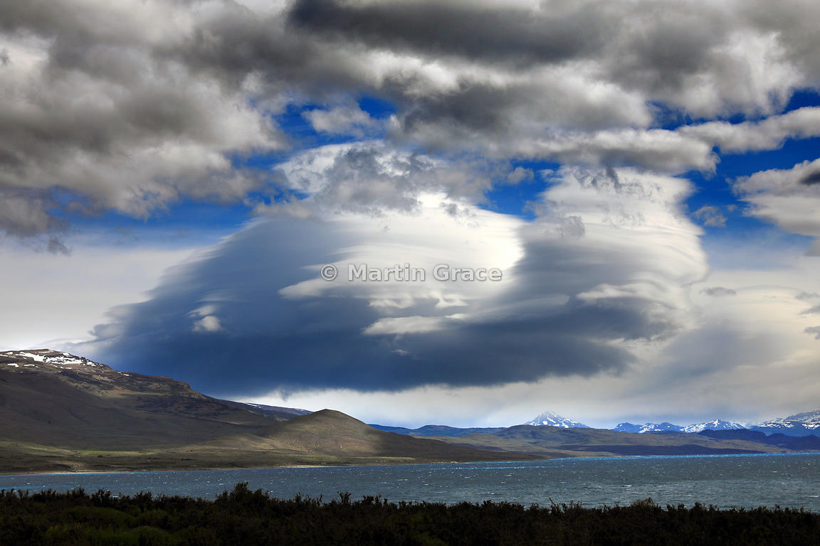 Paine cloudscape from within Estancia Laguna Amarga, Patagonia, Region XII Magallanes y Antartica chilena, Chile