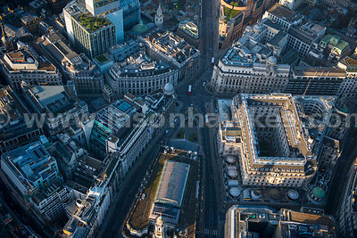 Aerial view of Bank, London