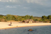 fishing beach, lake Niassa, Mozambique