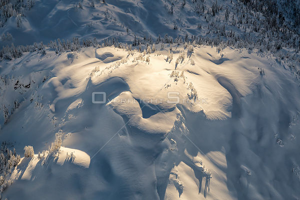 Dramatic Light on a Snow Covered Mountain Fraser Valley BC