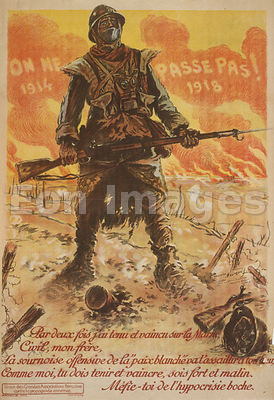 WWI poster-They Shall Not Pass