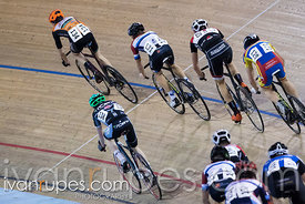 U17 Men Points Race. 2016/2017 Track O-Cup #3/Eastern Track Challenge, Mattamy National Cycling Centre, Milton, On, February ...