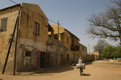 Colonial house on the historical embankment on the Senegal river, Dagana, Senegal