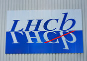 LHCb logo on exterior wall