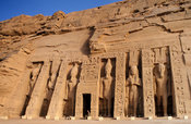 Abu Simbel, Rameses II dedicated a second temple to the goddess Hathor and his wife Nefertari, Egypt