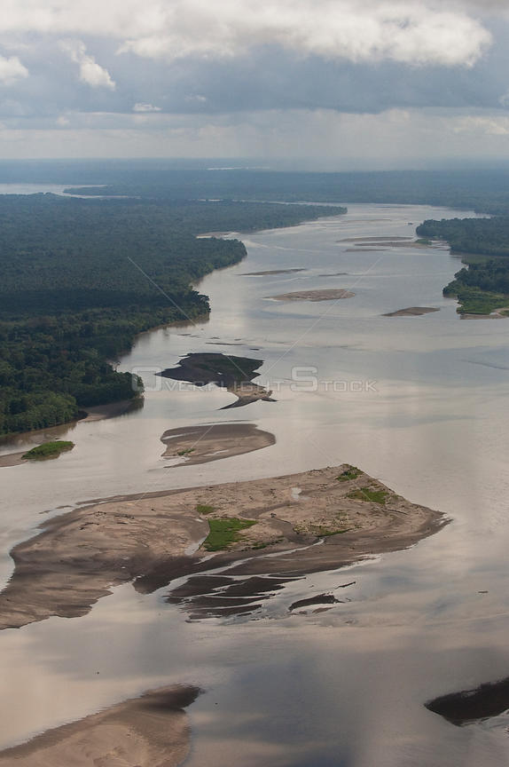 Napo River from the air. Near Coca (San Franciso de Orellana), Ecuador, June 2007.