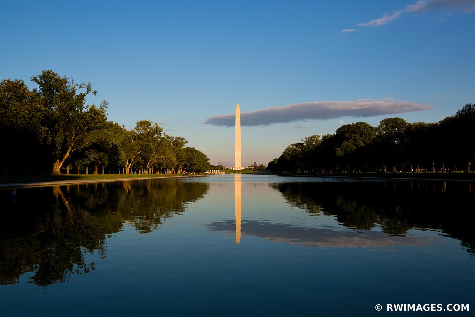 WASHINGTON MONUMENT REFLECTING POOL NATIONAL MALL WASHINGTON DC COLOR