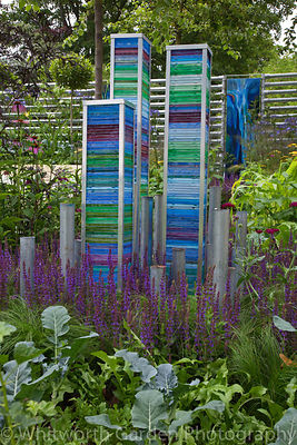 "The Deptford Project: An Urban Harvest"" garden designed by Alex Bell at the RHS Hampton Court Flower Show 2011. © Rob Whitworth"