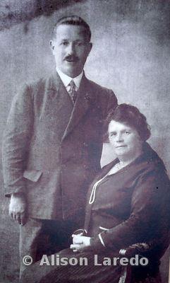 Henry McAneney and Margaret Mullen. Photo of photo taken in home of Mary B Conway by Alison Laredo in 2010. Likely datre of o...