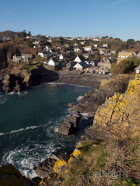 The small fishing village of Cadgwith on the Lizard Peninsula