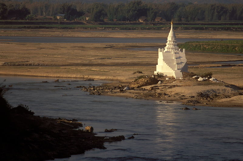 Stupa on the Shweli river
