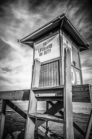 Lifeguard Tower 10 Newport Beach HDR Picture