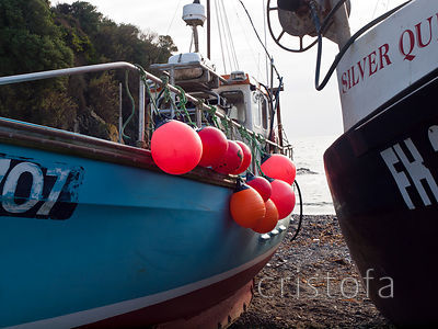 Fishing boats on Cadgwith foreshore
