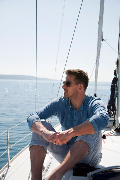 Man on yacht