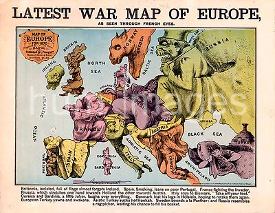Latest war map of Europe  as seen through French eyes ca 1870