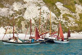 Drascombe rally in Lulworth Cove, 201707070164