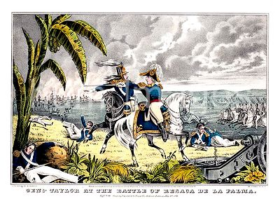 Genl. Taylor at the battle of Resaca de la Palma Capt. May receiving his orders to charge the Mexican batteries May 9th 1846