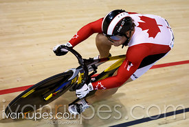 The Canadian sprint national champ Hugo Barrette at Men's sprint qualification. Milton International Challenge, January 9, 2015