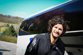 Laszlo NAGY of Veszprém during the Final Tournament - Final Four - SEHA - Gazprom league, team arrival in Varazdin, Croatia, ...