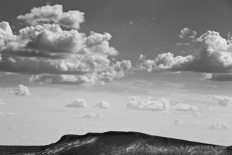 TURQUOISE TRAIL NEW MEXICO LANDSCAPE BLACK AND WHITE