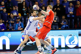 Players during the Final Tournament - Final Four - SEHA - Gazprom league, Bronze Medal Match Meshkov Brest - PPD Zagreb, Bela...