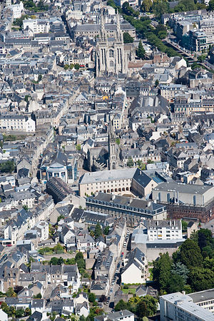 photo : centre ville de Quimper