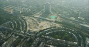 London Aerial Footage of Earls Court redevelopment.