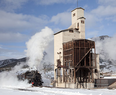 Nevada Northern Railway #93 with coaling tower