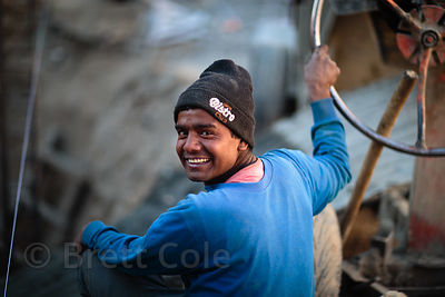Construction worker in Leh, Ladakh, India