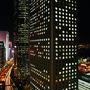 Jardine House at night