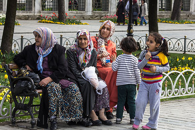 Group of women and children, Istanbul