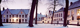 Beguinage at Bruges during winter.